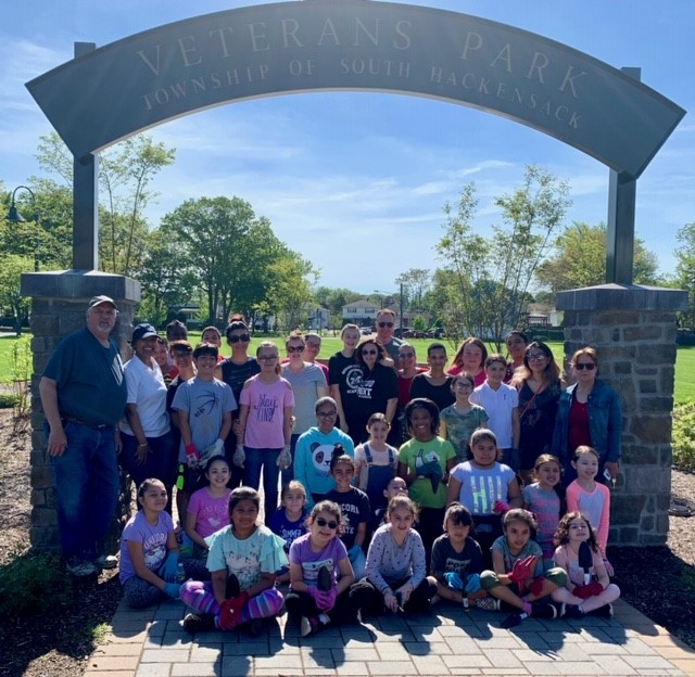 Township Committee Member Frank Cagas and SH GIRL SCOUTS